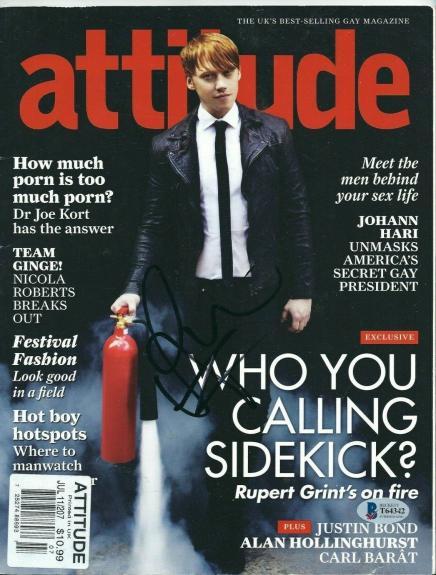 Rupert Grint Signed 'Attitude' Magazine *Harry Potter BAS T64342