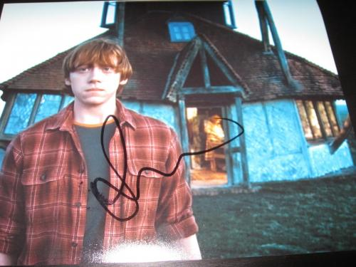 RUPERT GRINT SIGNED AUTOGRAPH 8x10 PHOTO HARRY POTTER PROMO IN PERSON COA NY X6