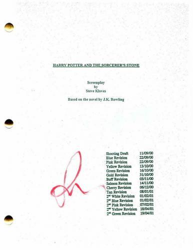 Rupert Grint Signed Autograph - Harry Potter And The Sorcerer's Stone Script