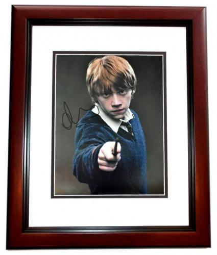 Rupert Grint Signed - Autographed Harry Potter - Ron Weasley 11x14 inch Photo MAHOGANY CUSTOM FRAME - Guaranteed to pass PSA/DNA or JSA