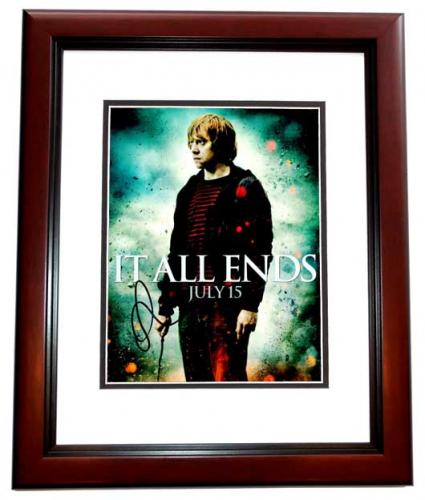 Rupert Grint Signed - Autographed Harry Potter - Ron Weasley 8x10 inch Photo - MAHOGANY CUSTOM FRAME - Guaranteed to pass PSA or JSA