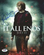 Rupert Grint Signed Harry Potter 8x10 Photo PSA/DNA COA Deathly Hallows Picture