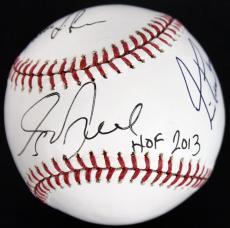 """Rush (3) Lee, Peart & Lifeson """"HOF 13"""" Inscribed Signed OML Baseball PSA #V01216"""