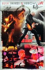 Rush (3) Lee, Peart, Lifeson Signed 11x17 Snakes & Arrows Live Photo BAS #A00984