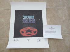 RUSH Band Signed Autographed Lithograph Art Poster All 3 #482 of 500 2112
