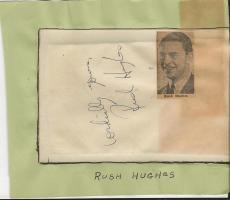 Rush Hughes & The Debutantes Signed Vintage Album Page
