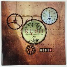 RUSH Signed Autographed Time Machine 2011 Album Lee Peart Lifeson PSA/DNA