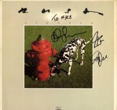 Rush Signed To Mike Autographed Signals Album Vinyl LP AFTAL UACC RD