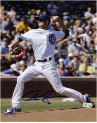 "Chris Rusin Chicago Cubs Autographed 8"" x 10"" Pitch Photograph"