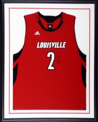 Russ Smith Louisville Cardinals Autographed Standard Framed Red Replica Jersey