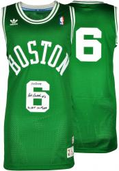 Bill Russell Boston Celtics Autographed Green Throwback Swingman Jersey with Multiple Inscription-Limited Edition of 6