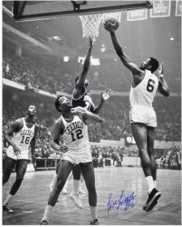 "Boston Celtics Bill Russell Autographed 16"" x 20"" Photo - Mounted Memories"