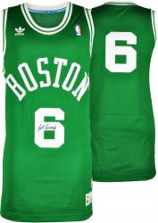 Bill Russell Boston Celtics Autographed Green Throwback Swingman Jersey