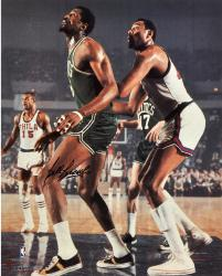 "Bill Russell Boston Celtics Autographed 16"" x 20"" vs. Philadelphia 76ers Photograph"