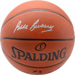 Bill Russell Boston Celtics Autographed Spalding Indoor Outdoor Basketball - Mounted Memories