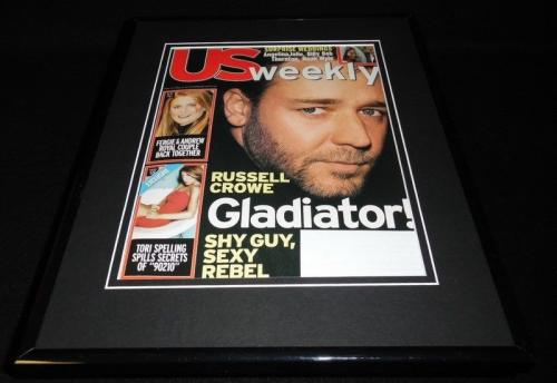 Russell Crowe 11x14 Framed ORIGINAL 2000 US Magazine Cover Gladiator