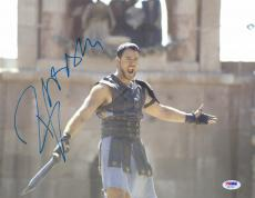 "Russell Crowe Autographed 11"" x 14"" Gladiator Arms Spread Photograph- PSA/DNA COA"