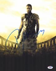"Russell Crowe Autographed 11"" x 14"" Gladiator Holding Sword Photograph- PSA/DNA COA"
