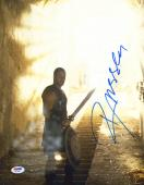 "Russell Crowe Autographed 11"" x 14"" Gladiator Holding Swrod & Shield Photograph- PSA/DNA COA"