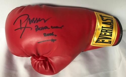 RUSSELL CROWE (Cinderella Man) signed authentic Everlast boxing glove-JSA letter
