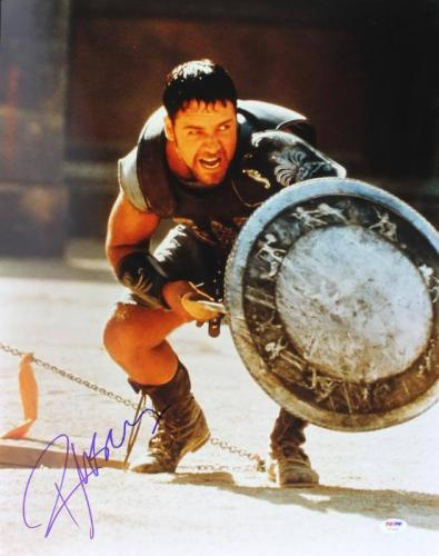 Russell Crowe Gladiator Signed 16X20 Photo Autographed PSA/DNA #U70469