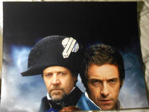"Russell Crowe & Hugh Jackman Signed Autograph ""les Miserables"" 11x14 Promo Photo"