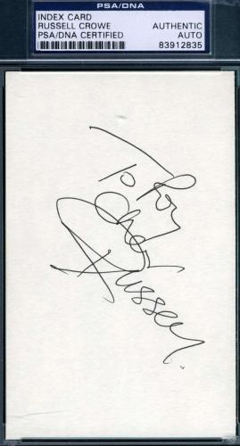 Russell Crowe Jsa Coa Hand Signed 3x5 Index Card Authenticated Autograph
