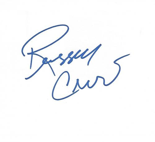 "RUSSELL CROWE - Movies Include ""GLADIATOR"", ""A BEAUTIFUL MIND"", and ""AMERICAN GANGSTER"" Signed 6x4 Index Card"