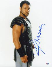 Russell Crowe SIGNED 11x14 Photo Maximus Gladiator PSA/DNA AUTOGRAPHED