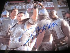 RUSSELL CROWE SIGNED AUTOGRAPH 8x10 GLADIATOR PROMO OSCAR WINNER IN PERSON COA P