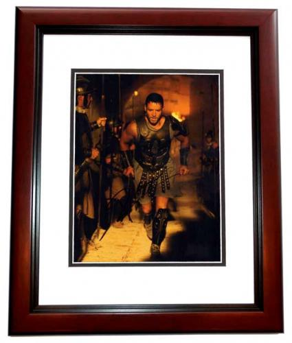 Russell Crowe Signed - Autographed GLADIATOR 11x14 inch Photo MAHOGANY CUSTOM FRAME - Guaranteed to pass PSA or JSA