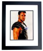 Russell Crowe Signed - Autographed Gladiator 8x10 inch Photo BLACK CUSTOM FRAME - Guaranteed to pass PSA or JSA