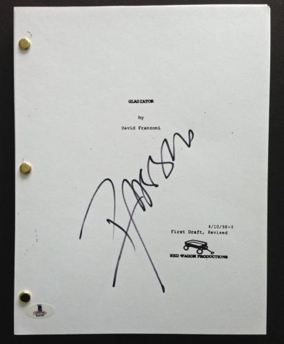 Russell Crowe Signed Full 131 Page Gladiator Movie Script Beckett Bas Coa