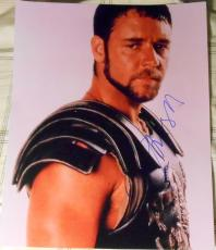 """Russell Crowe Signed Full Name Autograph """"gladiator"""" Promo Poster 11x14 Photo"""