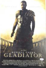 """RUSSELL CROWE Signed """"GLADIATOR"""" 12x18 Photo  PSA/DNA #AB42352"""