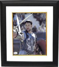 Russell Crowe signed Gladiator 8X10 Photo Custom Framed- JSA Hologram #T40847 (with sword)