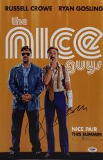 Russell Crowe Signed *The Nice Guys 11x17 Photo PSA