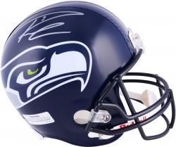 Russell Wilson Seattle Seahawks Autographed Riddell Replica Helmet -