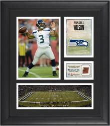 Russell Wilson Seattle Seahawks Framed 15'' x 17'' Collage with Game-Used Football - Mounted Memories