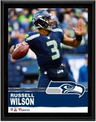 Russell Wilson Seattle Seahawks Sublimated 10.5'' x 13'' Plaque - Mounted Memories