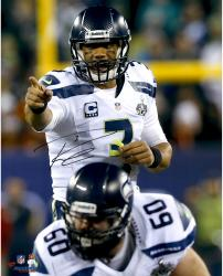 """Russell Wilson Seattle Seahawks Super Bowl XLVIII Champions Autographed 16"""" x 20"""" Vertical Point Photograph"""