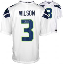 Nike Russell Wilson Seattle Seahawks Super Bowl XLVIII Champions Autographed Limited Jersey - White