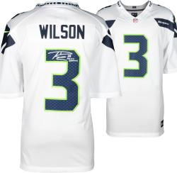 Nike Russell Wilson Seattle Seahawks Super Bowl XLVIII Champions Autographed Limited Jersey with SB XLVIII Champs Inscription - White