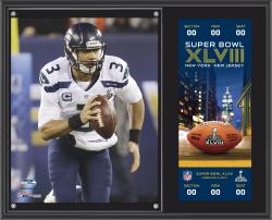 "Russell Wilson Seattle Seahawks Super Bowl XLVIII Champions 12"" x 15"" Plaque with Replica Ticket"