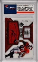 Russell Wilson Wisconsin Badgers Autographed 2012 Upper Deck SP Authentic Rookie #RT-RW Card with GU Jersey