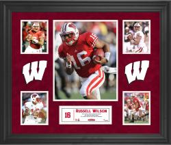 Russell Wilson Wisconsin Badgers Framed 5-Photo Collage