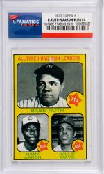Babe Ruth & Hank Aaron New York Yankees 1973 Topps #1 Card - Mounted Memories