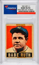 Babe Ruth New York Yankees 1949 Leaf #3 Card - Mounted Memories
