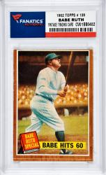 Babe Ruth New York Yankees 1962 Topps #139 Card
