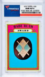 RUTH, BABE (1972 TOPPS # 626) CARD - Mounted Memories
